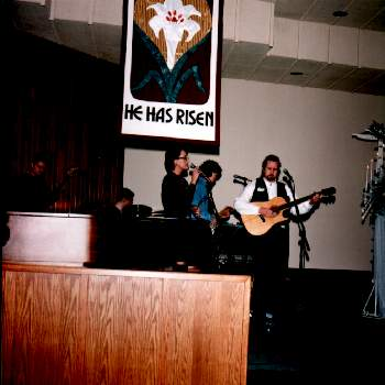 Our friends in the worship band who helped us praise Jesus